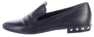 Balenciaga Balenciaga Embellished Leather Loafers