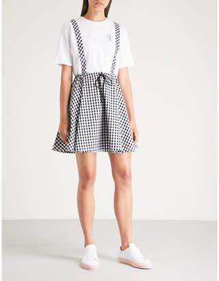 Chocoolate Gingham-print drawstring-waist cotton dress