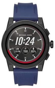 Michael Kors Grayson Silicone Strap Watch
