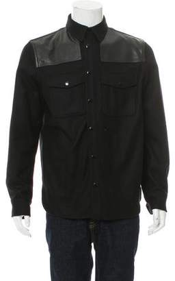 Rag & Bone Leather-Trimmed Shirt Jacket