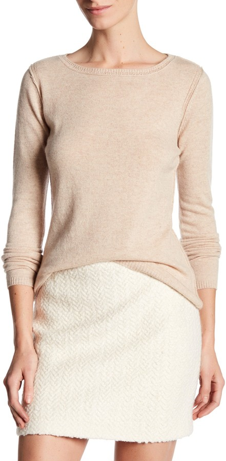 In Cashmere Cashmere Open-Stitch Pullover Sweater 2