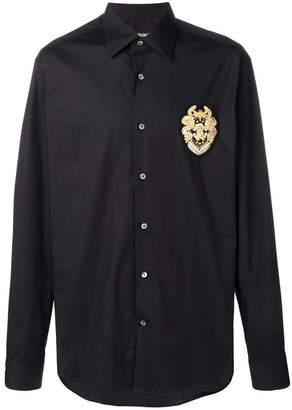 Roberto Cavalli logo patch shirt