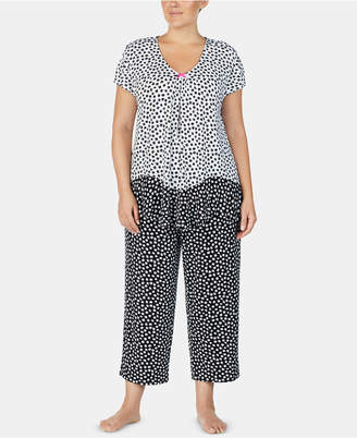 Ellen Tracy Plus Size Printed Pajama Top