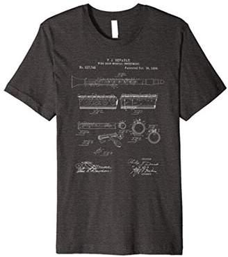 Vintage Patent Print 1894 Clarinet Player T-Shirt