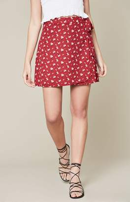 La Hearts Wrap Skirt