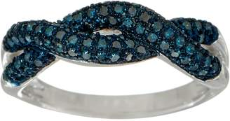 Affinity Diamond Jewelry Woven Design 1/2 cttw Diamond Band Ring, Sterling, by Affinity
