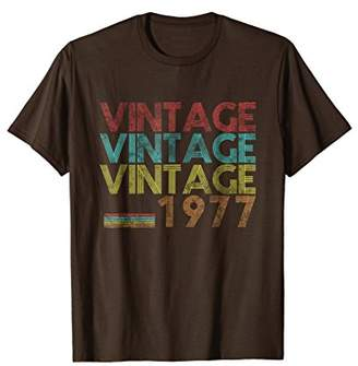 Vintage 1977- 40 Years Old 40th Birthday 70s Gift T-shirt
