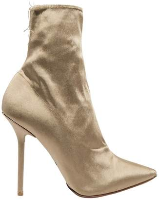 Vetements Naked satin hankle boots