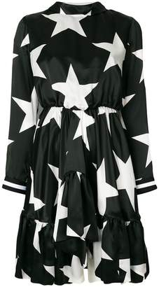 MSGM star print flared dress