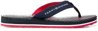 Tommy Hilfiger ridged logo flip flops