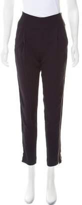 A.L.C. Mid-Rise Zip- Trimmed Pants