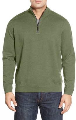 Tommy Bahama 'New Flip Side Pro' Reversible Quarter Zip Sweater $118 thestylecure.com
