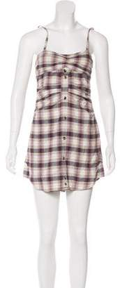 Etoile Isabel Marant Plaid Mini Dress