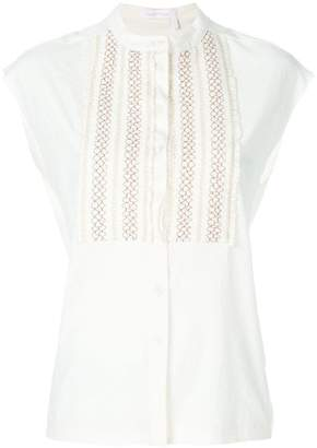 See by Chloe embroidered bib sleeveless shirt