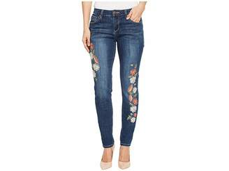Jag Jeans Sheridan Skinny Jeans w/ Embroidery in Thorne Blue
