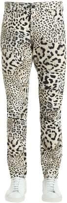 Elwood Leopard Print Denim Jeans