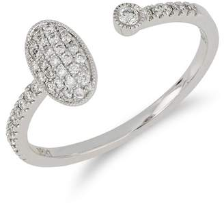 Bony Levy 18K White Gold Bezel & Pave Diamond Cuff Ring