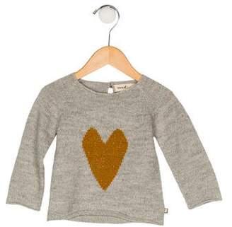 Oeuf Girls' Intarsia Knit Sweater