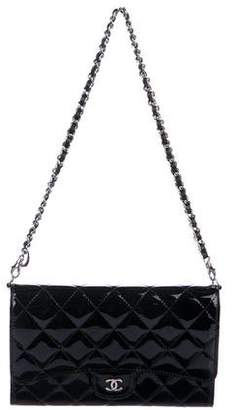 Chanel Quilted Patent Wallet On Chain