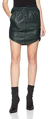 Second Female Women's Pril Leather Skirt,(Manufacturer Size:Large)