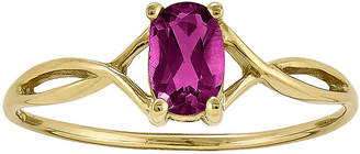 FINE JEWELRY Genuine Pink Tourmaline 14K Yellow Gold Ring