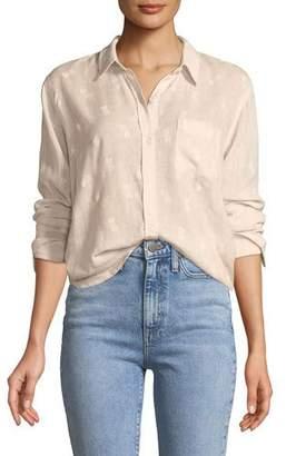 Rails Charli Pineapples Linen-Blend Button-Front Shirt