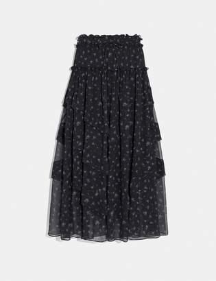 Coach Prairie Print Ruffle Tiered Skirt