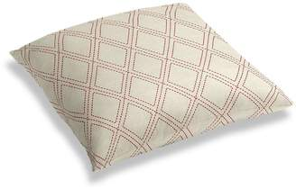 Loom Decor Simple Floor Pillow Diamonds Are Forever - Crimson