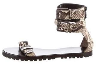 Belstaff Python Slingback Sandals