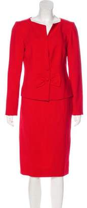 Valentino Wool Knee-Length Skirt Suit