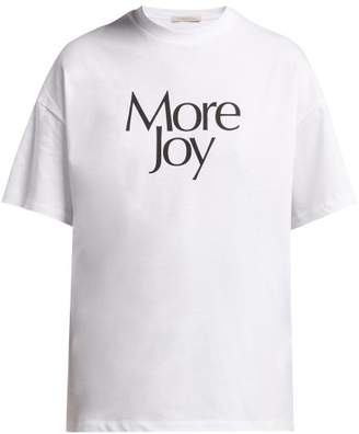 Christopher Kane More Joy Printed Cotton T Shirt - Womens - White
