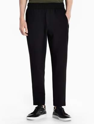 Calvin Klein viscose stretch blend woven pants