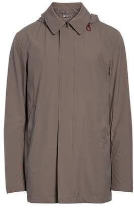 Herno Bonded Raincoat with Removable Hood