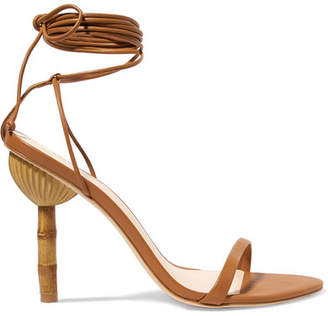 Cult Gaia Luna Leather Sandals - Brown