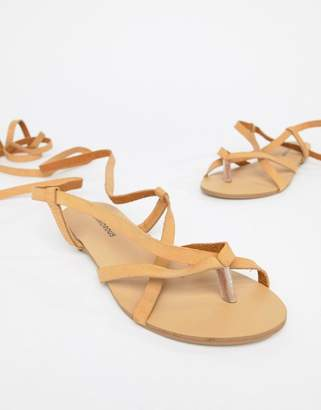 Glamorous Strappy Flat Sandals