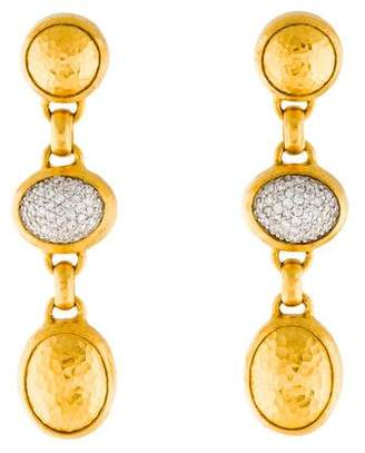 Gurhan Diamond Pavé Amulet Triple Drop Earrings