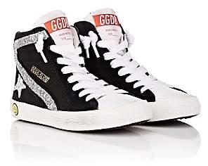 Golden Goose Kids' Slide Canvas & Leather Sneakers - Black