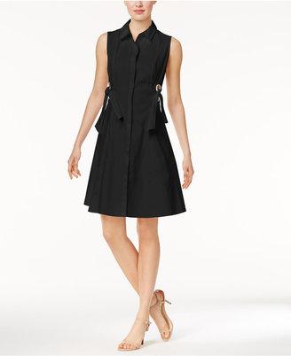 Marled Grommet-Trim Shirtdress $70 thestylecure.com