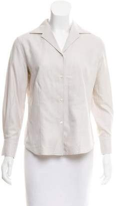 Loro Piana Notch-Collar Button-Up Top