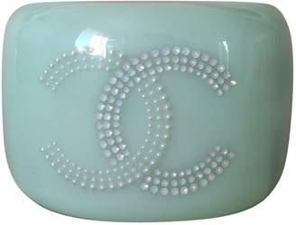 Chanel Green Plastic Bracelets