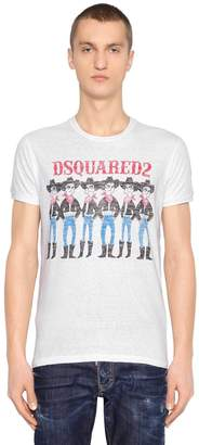 DSQUARED2 Cowboys Printed Vintage Jersey T-Shirt