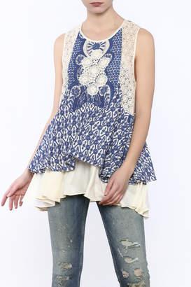 Hazel Crochet Ruffle Tank