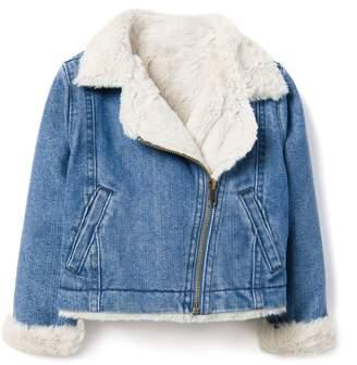 Crazy 8 Crazy8 Toddler Denim Sherpa Zip Jacket