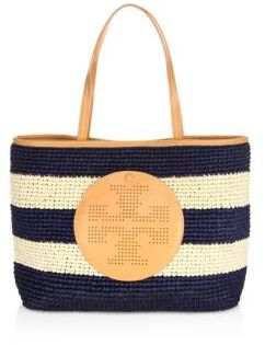 Tory Burch Tory Burch Perforated-Logo Straw Tote