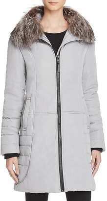 Maximilian Furs Fox Fur Collar Puffer Coat - 100% Exclusive