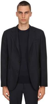 Ermenegildo Zegna Single Breasted Pure Wool Flannel Jacket