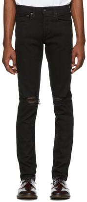 Rag & Bone Black Fit 1 Distressed Jeans