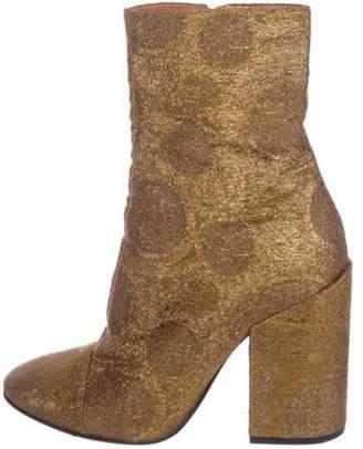 Dries Van Noten Metallic Ankle Boots Gold Metallic Ankle Boots