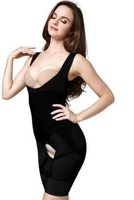 4e1f4d0e17669 Your Own AICONL Women s Bamboo Body Shaper Wear Bra Tummy Slimming Full  Shapewear