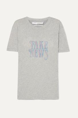 IRO Hothead Printed Cotton-jersey T-shirt - Light gray